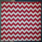 "Cushion Cover in Riley Blake Chevron Red White Stripe 14"" 16"" 18"" 20"""